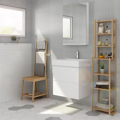 北欧台盆卫浴柜架毛巾洗漱用品组合3D模型【ID:96980541】