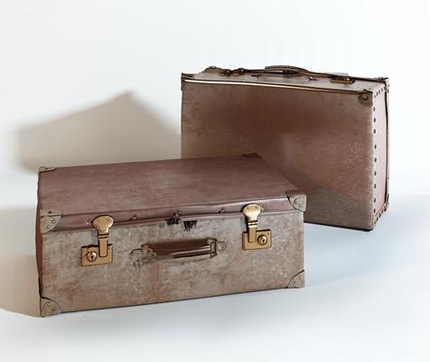 工业风复古皮革行李箱箱子3D模型【ID:96998912】