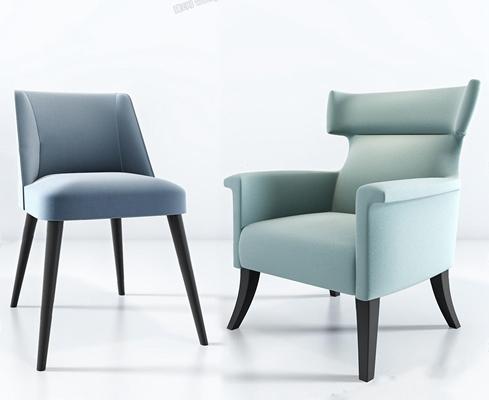 北欧单人沙发3D模型【ID:928183658】