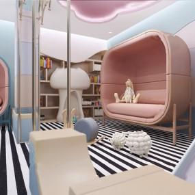现代儿童活动室3d模型【ID:948245671】