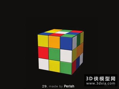 魔方玩具国外3D模型【ID:129867946】