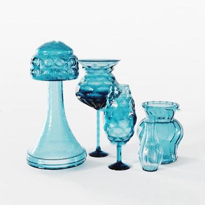 现代玻璃杯组合3D模型【ID:97002639】
