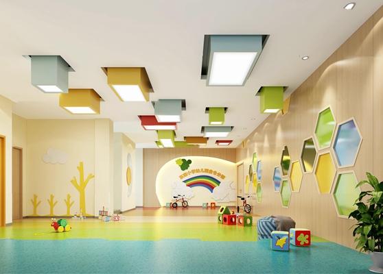 现代幼儿园活动室3D模型【ID:97010235】