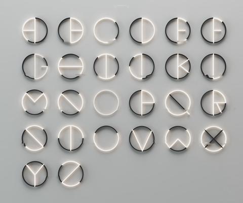 现代英文字母装饰灯墙饰组合3D模型【ID:97015488】