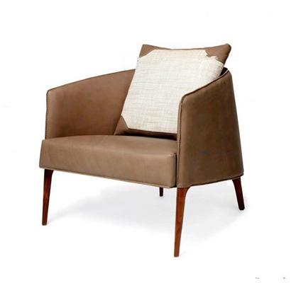 现代休闲皮革单人沙发3D模型【ID:97020863】