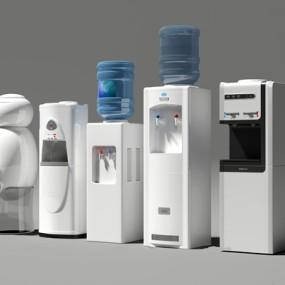 现代饮水机组合3D模型【ID:97033060】