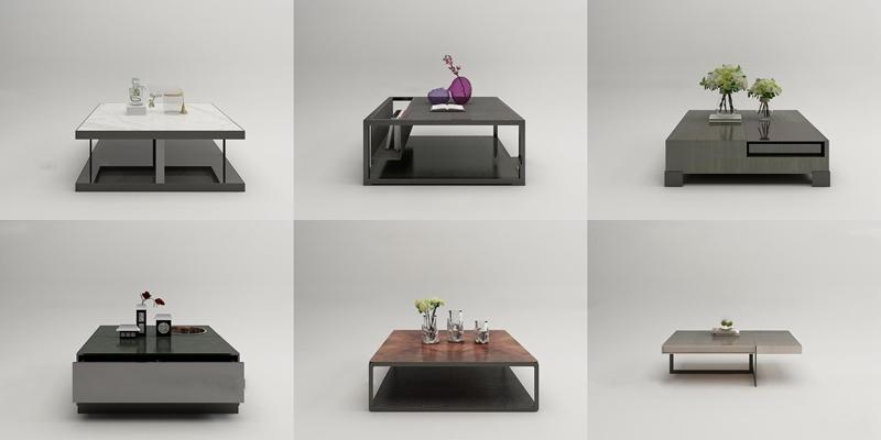 现代茶几陈设品组合3D模型【ID:97033066】