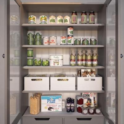 现代食品商展示柜架3D模型【ID:97039329】
