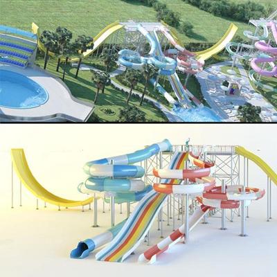 现代水上滑梯3D模型【ID:97049153】