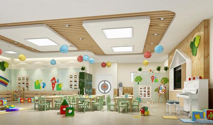 现代儿童教室活动室3D模型【ID:97050133】