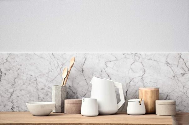 现代陶瓷调料器皿木勺餐具组合3D模型【ID:97051837】