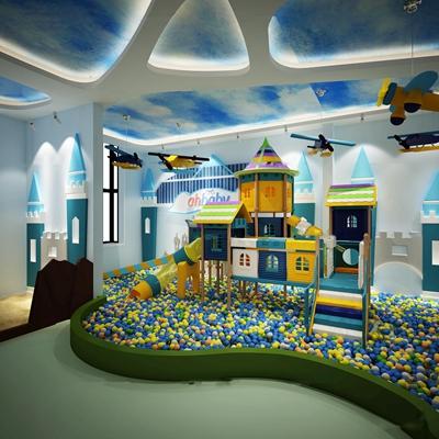 现代儿童游乐区3D模型【ID:97053131】