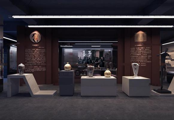 现代陶瓷展厅3D模型【ID:97055538】