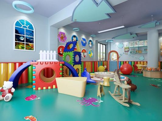 现代幼儿园活动中心3D模型【ID:97055631】