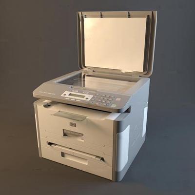 現代打印復印一體機3D模型【ID:97056762】
