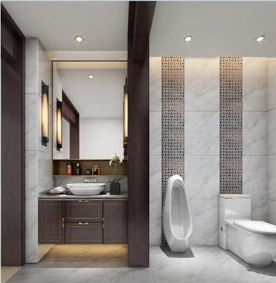 现代卫浴柜架马桶组合3D模型【ID:97057940】