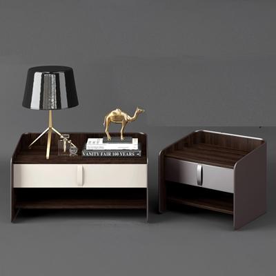 现代床头柜台灯摆件组合3d模型【ID:97066868】