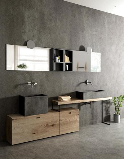 现代台盆卫浴柜架3D模型【ID:97068847】