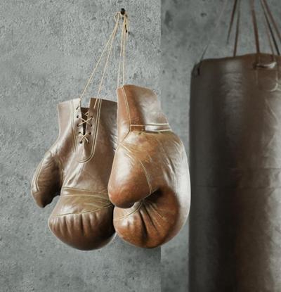 现代拳击沙袋拳击手套组合3D模型【ID:97069399】