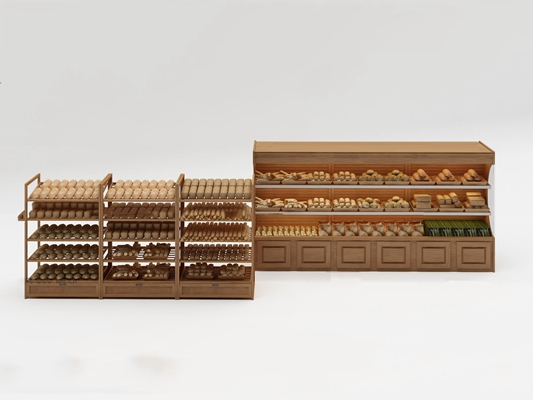 现代面包架置物架3D模型【ID:97069720】