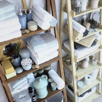现代毛巾洗发水香皂卫浴柜架3D模型【ID:97072843】
