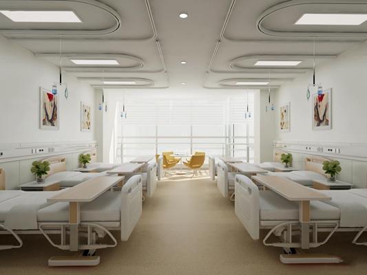 现代医院病房3D模型【ID:97074837】