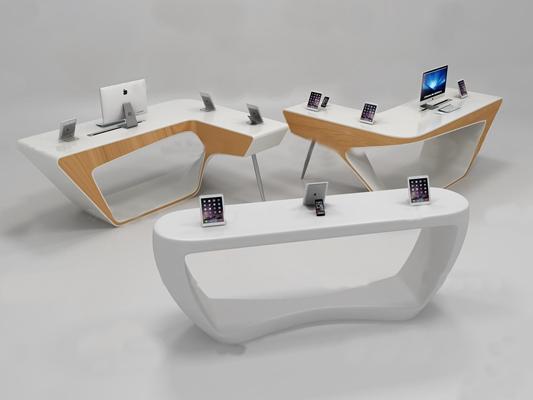 现代手机电脑展柜3D模型【ID:97076121】