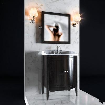 现代浴室柜镜子壁灯组合3D模型【ID:97078040】