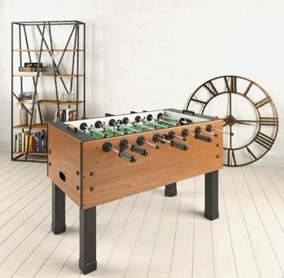 工业风桌面足球游戏书架组合3D模型【ID:97080491】