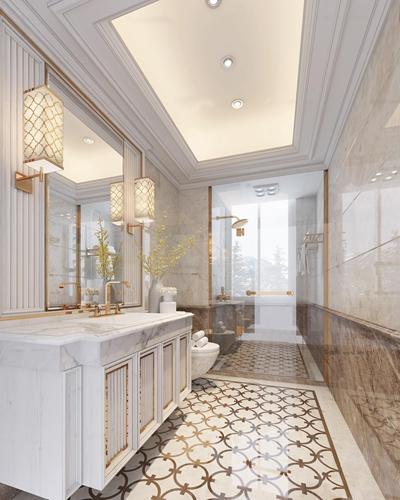 欧式酒店卫生间3D模型【ID:97081480】