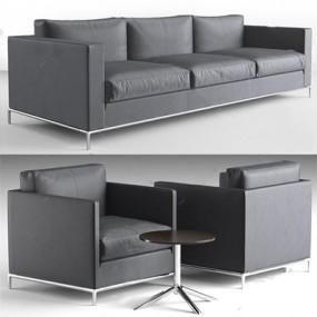 三人沙发3D模型【ID:97087771】