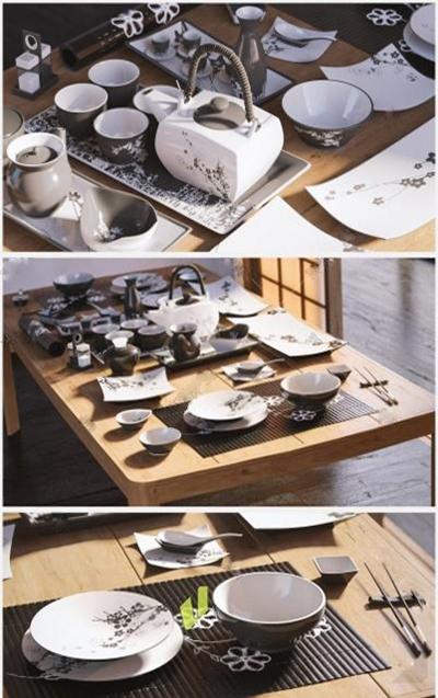 餐具3D模型【ID:97088334】