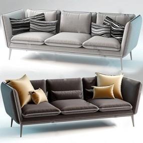 三人沙发3D模型【ID:97090372】