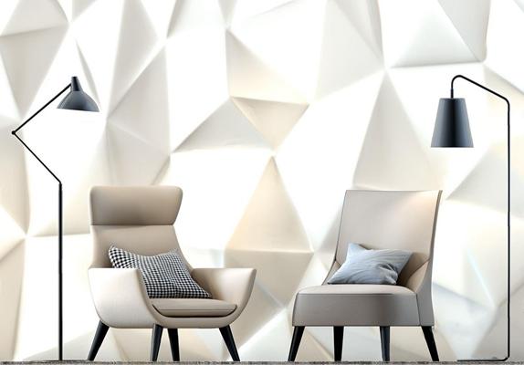 北欧单人沙发椅3D模型【ID:97100769】