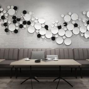 创意餐厅墙饰3D模型【ID:97119360】