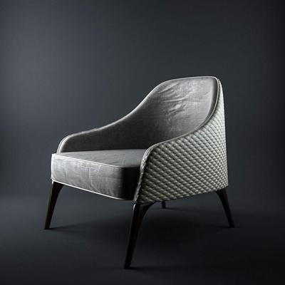 现代皮革单人沙发3D模型【ID:97119869】
