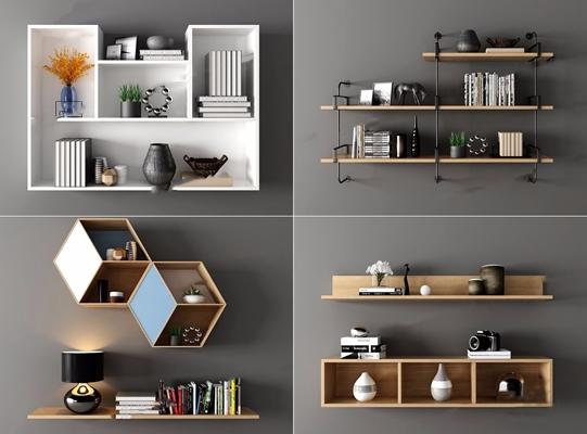 现代吊柜壁柜组合3D模型【ID:97129826】