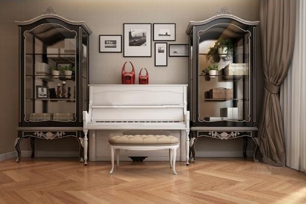 美式装饰柜钢琴组合3D模型【ID:97131822】