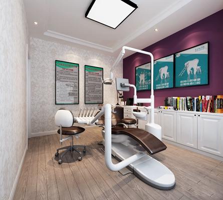 现代牙科诊室3D模型【ID:919725678】