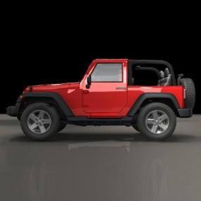 现代红色牧马人汽车3D模型【ID:97151648】