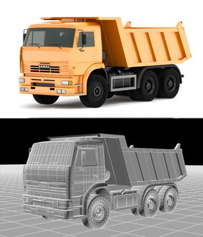 现代卡车3D模型【ID:97152044】