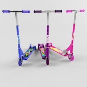 现代儿童滑板车下载3D模型【ID:97152141】