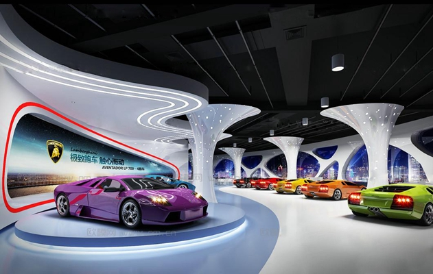 现代汽车展厅3D模型