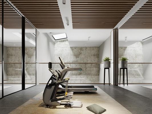 现代健身房3D模型【ID:97172936】