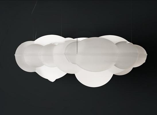 后现代玻璃云朵装饰灯3D模型【ID:97176088】