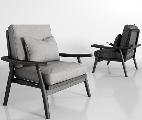 现代实木布艺沙发组合3d模型【ID:97179665】