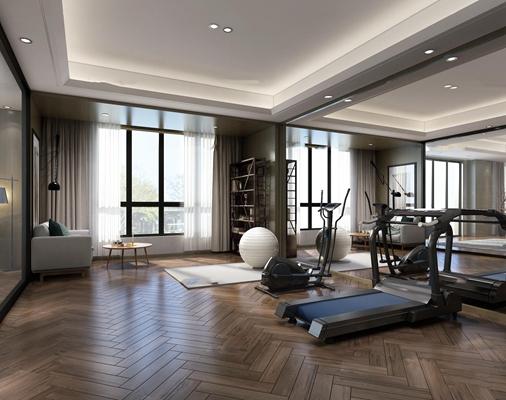 现代健身房3D模型【ID:97183736】