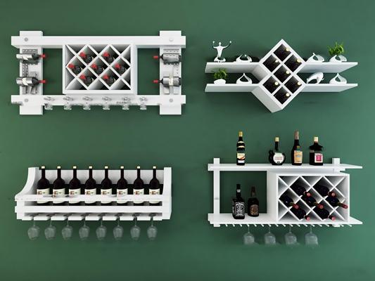 现代红酒架3D模型【ID:97185205】