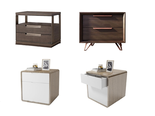 现代实木床头柜3d模型【ID:97186063】