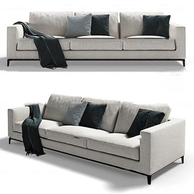 现代布艺多人沙发3D模型【ID:97188697】